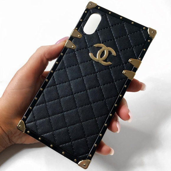 lowest price b7179 a87f3 Black & Gold Chanel iPhone X Phone Case